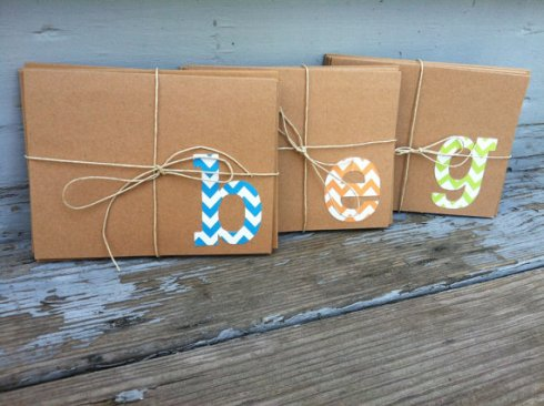 """Chevron Monogrammed Stationery"""
