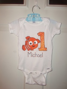 Finding Nemo Birthday Onesie